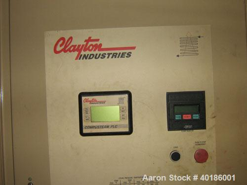 Unused-Used: Clayton Steam Generator, model EG-204-2. Horsepower 200 bhp, design pressure 200 psi, operating pressure 125 ps...