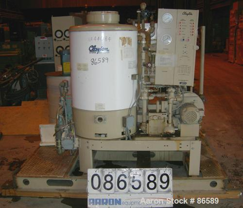 USED: Clayton steam generator, model EG-33-IRI, natural gas fired. Boiler output 33 bhp, net heat output 1,104,675 but/hr (3...