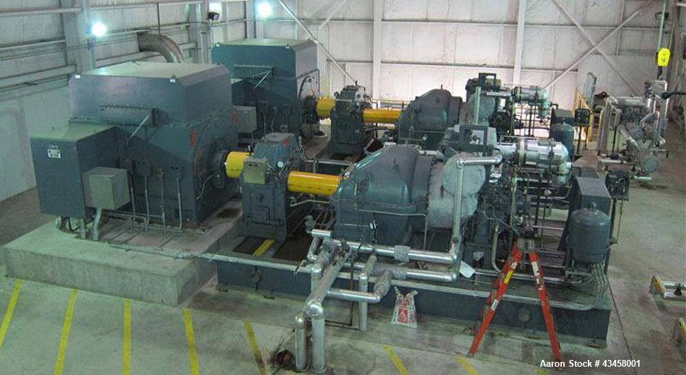 Used- Power Plant 18.68 MW consisting of: (2) Dresser-Rand 9.341 MW condensing steam turbine generator sets. Dresser item no...