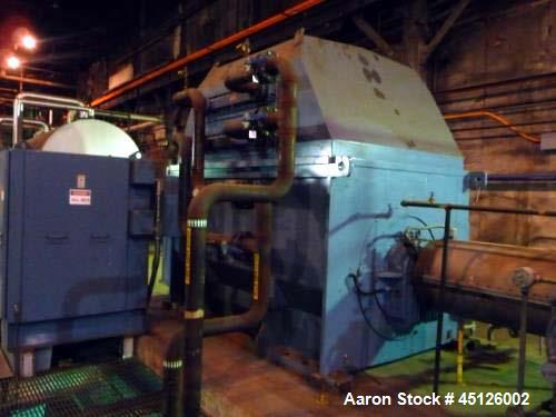 Used- Elliot 11MW Back Pressure Steam Turbine Generator Set. ABB AMS 800LC generator 3/60/4160V. Year 2002.