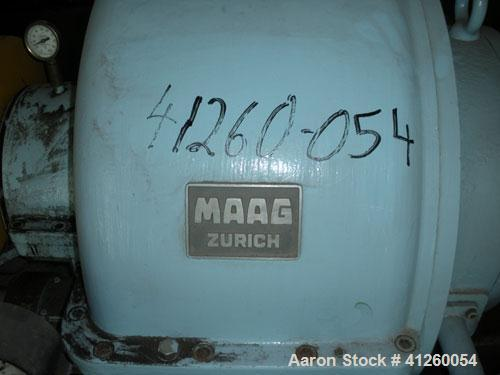 Used-Maag Steam Turbine Generator Set. Generator Maag 4000 kW, T 6000, M 1200. Westinghouse exciter 30.5 kW, 90 volts, 340 a...