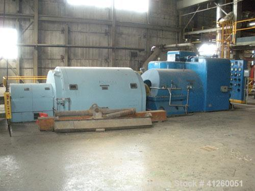 Used-Westinghouse Steam Turbine Generator Set. Generator Westinghouse AC, approximately 6,000 kW, 7,500 KVA, 6900 volts, 628...