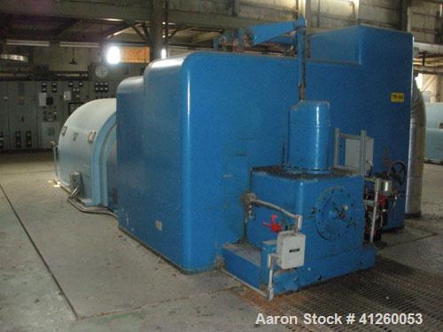 Used-Westinghouse Steam Turbine Generator Set. Generator Westinghouse AC, approximately 6000 kW, approximately 6000 kW / 750...