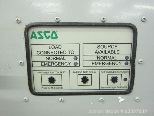 Used- Asco 300 Series Automatic Transfer Switch. 260 Amps, 3/50-60hz, 208 volt. Cat# E00300030260C10C. Type 1 enclosure.