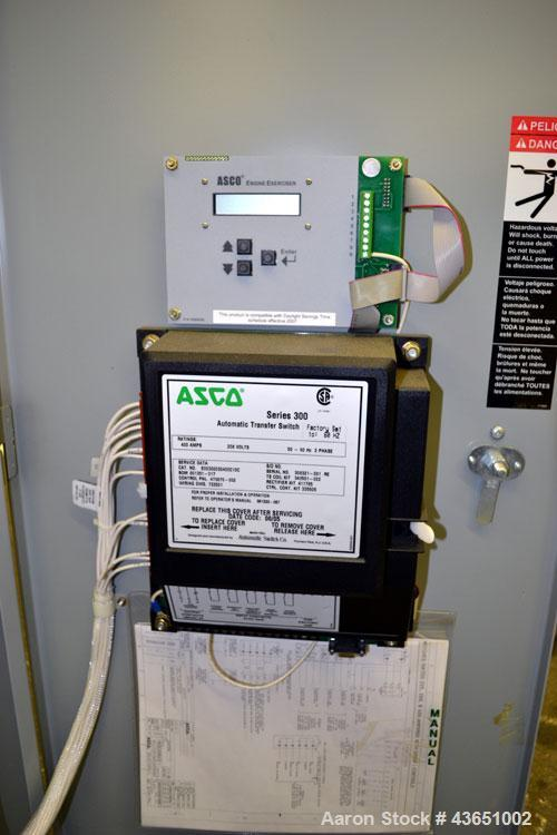Used- Asco 300 Series Automatic Transfer Switch, 400 Amps, Catalogue# E00300030400C10C. 3/60/208 volt. UL Listed type 1 encl...