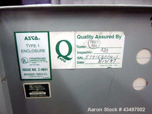 Used- Asco 7000 Series Automatic Transfer Switch. 400 Amps, 480 volt, 60 hz.