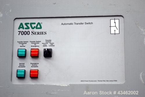 Used- Asco 7000 Series Automatic Transfer Switch. 600 Amps, 3/50-60hz, 480 volt. Cat# H07ATSA30600N50C. Type 1 enclosure, UL...