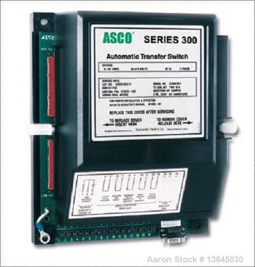 Unused-New Asco 2000 Amp ATS, series 300 power transfer switch. 3 pole, 277/480 (600 volt maximum) Nema 1 enclosure, UL 1008...