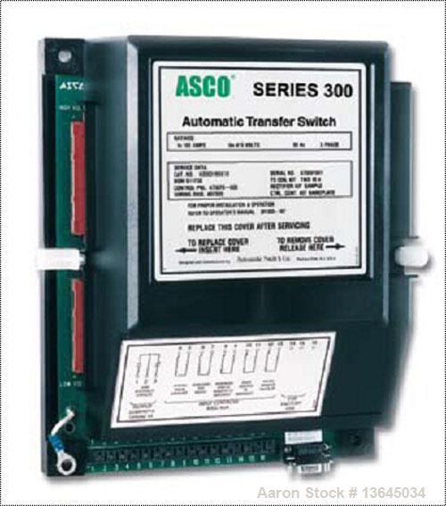 Unused-New Asco 800 Amp ATS, series 300 power transfer switch. 3 pole, 120/208V, Nema 1 enclosure, UL 1008 approved.