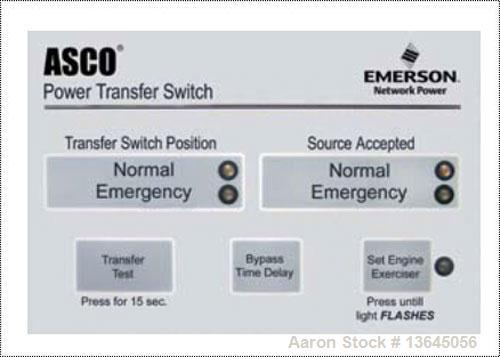 New Asco 1200 Amp ATS, series 300 power transfer switch. 3 pole, 277/480 (600 volt maximum) Nema 1 enclosure, UL 1008 approv...