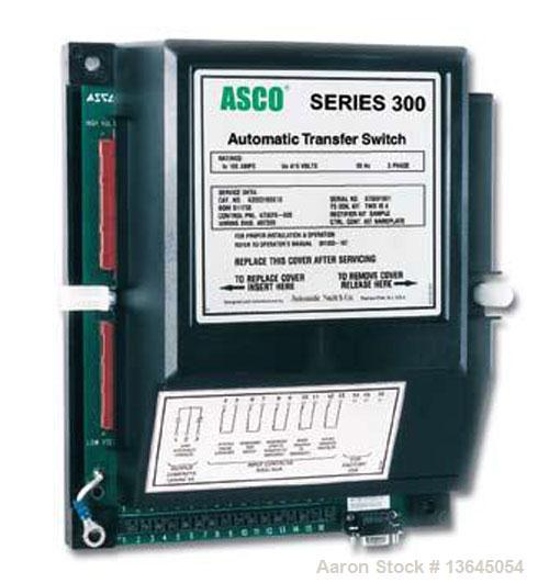 Unused-New Asco 200 amp ATS, series 300 power transfer switch, 3 pole, 3/60/480v, Nema 1 enclosure, UL 1008 approved.