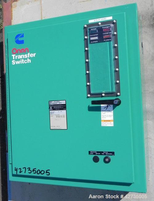 Used- Cummins / Onan 125 Amp Automatic Transfer Switch, model OTA-3369905, serial #C990884265. 3/60/480V. Type 1 enclosure.