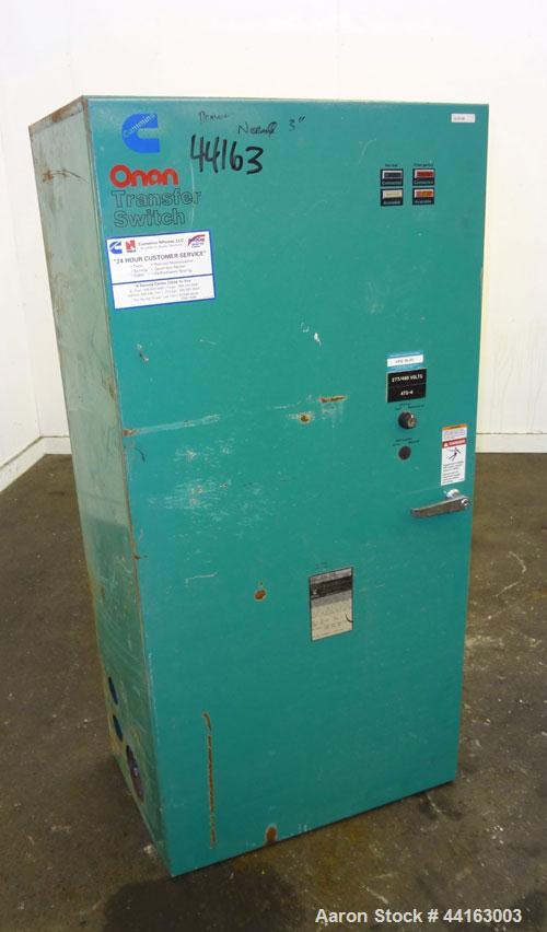 Used- Cummins / Onan 400 Amp Automatic Transfer Switch, model OTCU 400G, serial #G920476842. 3/60/277/480V. Type 1 enclosure.