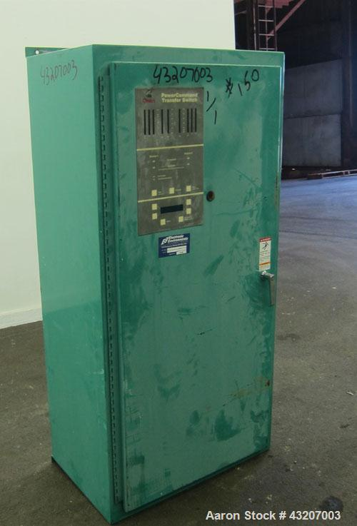 Used- Cummins / Onan Power Command Automatic Transfer Switch, 400 Amp, Model OTPCC-4487380, serial# H000141415. 4 Pole, 3/60...