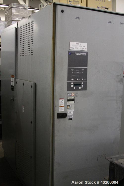 Used-Cummins / Onan PowerCommand 3000 Amp ATS / automatic transfer switch with isolation bypass, 3/60/480V, model OTPCH-4493...