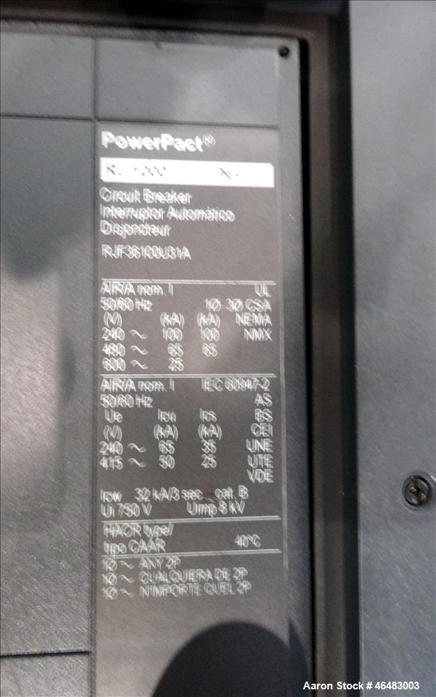 Used- Cummins Power Command 800 Amp service entrance rated ATS automatic transfer switch 3/60/277/480V. Cummins model OTPCSE...