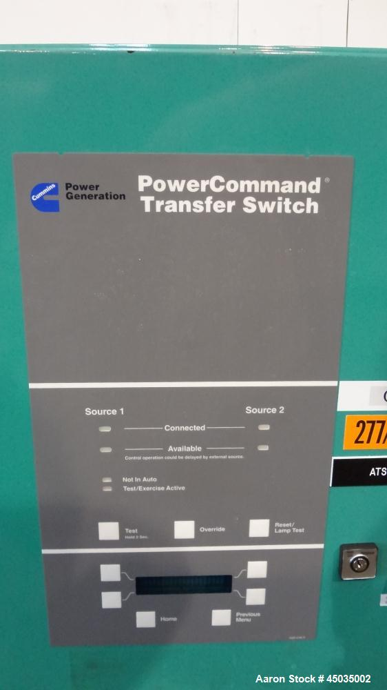 Used- Cummin / Onan 400 Amp Automatic Transfer Switch, Model OTPC400-574. 480/60/3.  UL Listed, type 1 enclosure.  Serial #J...