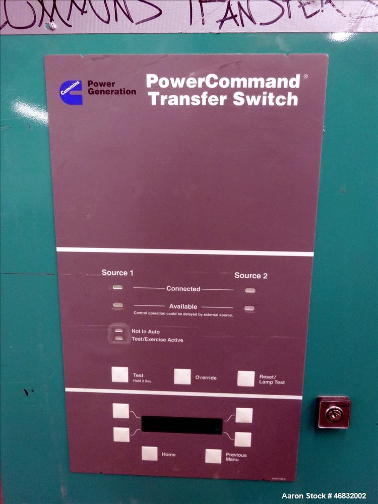 Used- Cummins Automatic Transfer switch, Model OTPCC-5754182, 600 Amp.