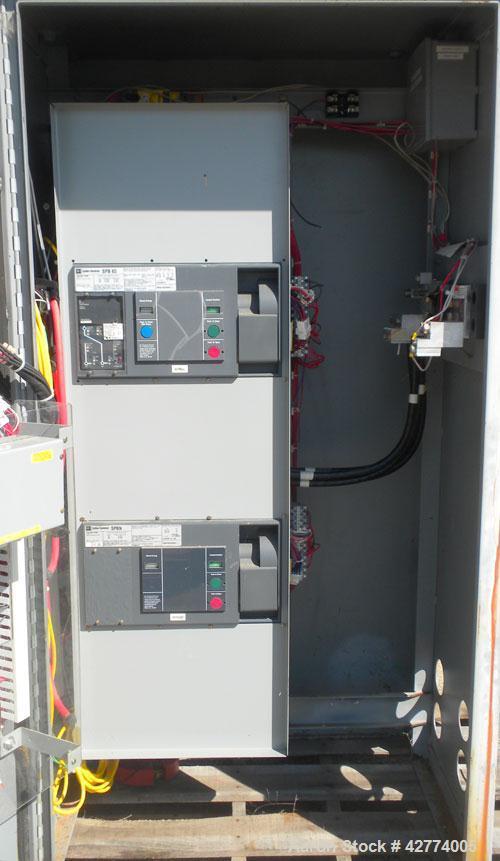 Used- Cutler Hammer Automatic Transfer Switch, model ATVISPC41200BRU, 1200 amps, 4 pole, 3/60/208 volt.