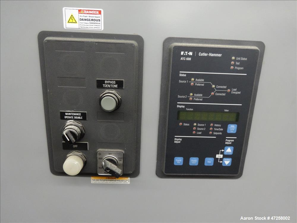 Used- Eaton Floor-Standing Magnum Fixed Mount Automatic Transfer Switch, 3200 amp. Cutler Hammer ATC-600 programmable microp...