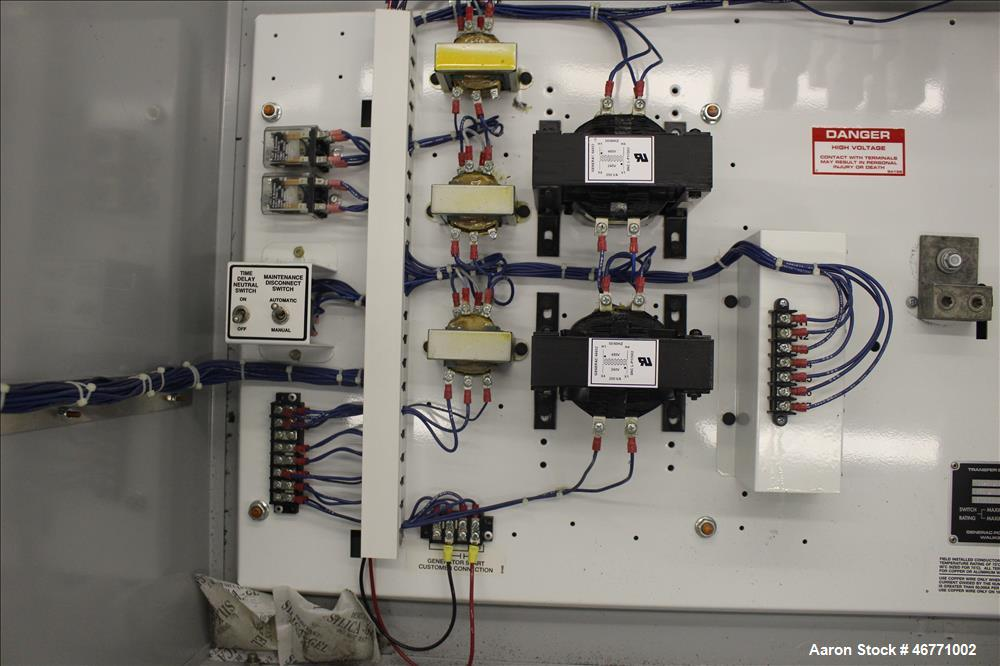 Used- Generac Transfer Switch, Model 1706630200, 600 amp, system voltage 277/480, serial# 77943.