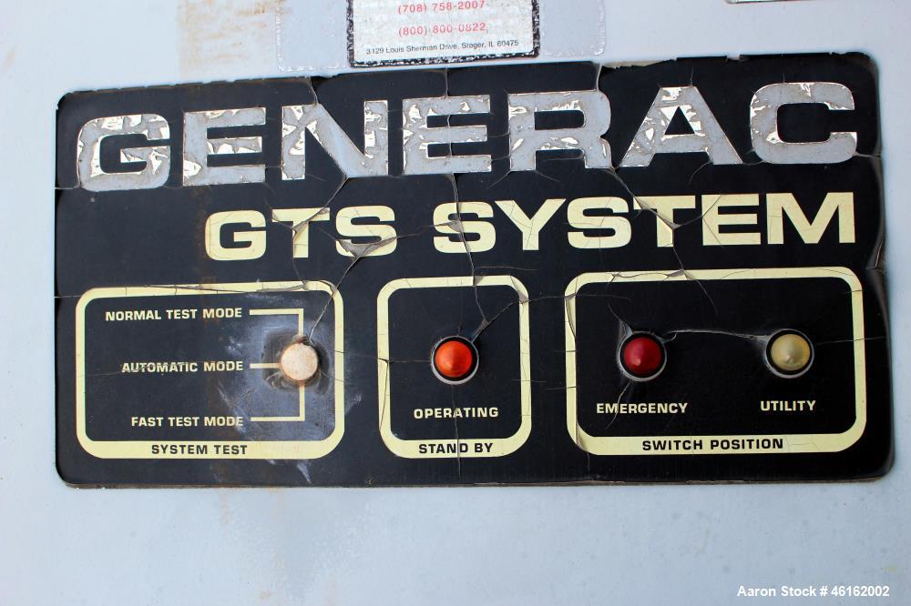Used- Generac Automatic Transfer Switch, Model 98A03069-W. Maximum amps 420. Maximum volts 250. System voltage 120/208. Seri...