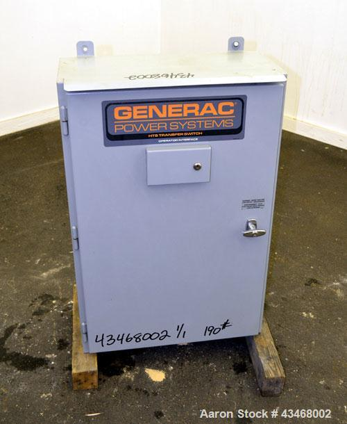 Used- Generac Power Systems HTS Transfer Switch, Model HTSN300J3. 300 Amps, 480 volts.