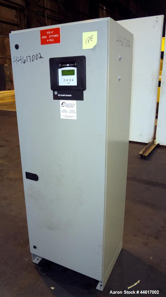 Used- GE-Zenith 600 Amp Automatic Transfer Switch, Model ATS100312BD01, 3/60/480V. 4-pole. Year 2009.