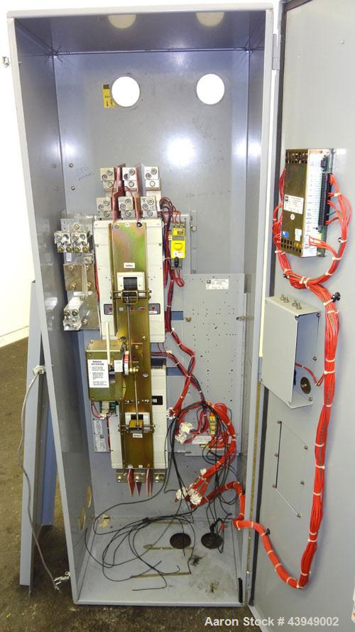Used- Cutler-Hammer 800 Amp Transfer Switch. Cat.# ATVAMDC30800BRU, style 68C8420G58. 3/60/208 Volts. Type 3R enclosure.