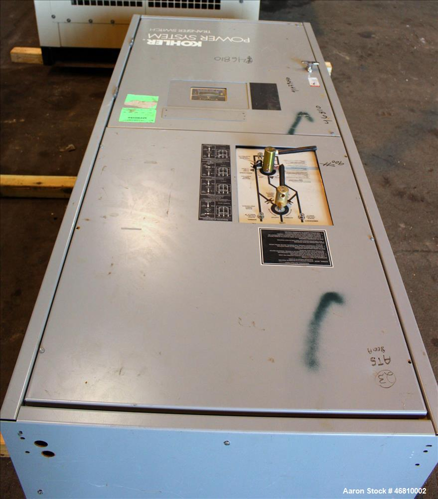 Used- Kohler 800 Amp ATS, Bypass Isolation Automatic Transfer Switch