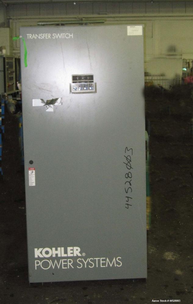 Used- Kohler 600 Amp Automatic Transfer Switch. 3 pole, 3/60/480V. Model KCP-AMTA-0600S, serial #K0766364. Nema 1 enclosure....