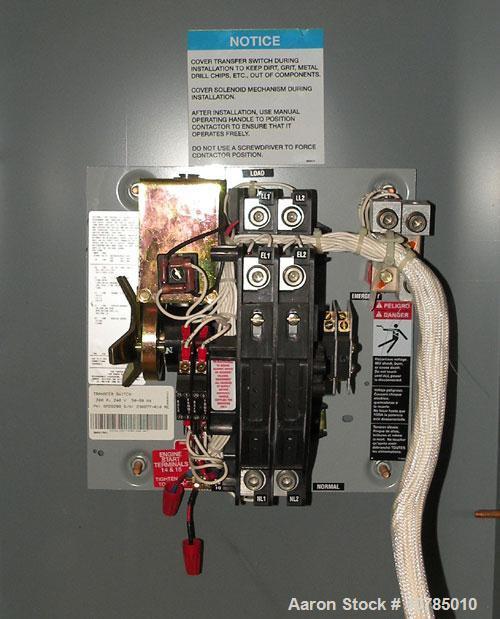 Used- Kohler Transfer Switch, 200 Amp, Single Phase 240 Volt, Model KCT-AFNA-0200S. Nema type 1 enclosure. Built 2003.
