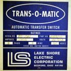 Used- Lake Shore Electric Trans-O-Matic 2000 Amp ATS, Model A17332000.