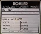 Used- Kohler Automatic Transfer Switch, Part# K-566341-104, 104 Amp. 3/60/480 Volt. Serial# K88089.