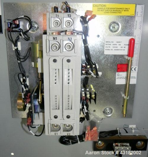 Used- Zenith 100 Amp Automatic Transfer Switch, Model ZG2SA01021-02. 1/60/120/240 Volts. Nema 1 enclosure. Year 2005.