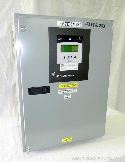 Used- Zenith 100 Amp Automatic Transfer Switch, Model ZG2SA01021-02. 1/60/120/240 Volts. Nema 1 enclosure. Year 2005.