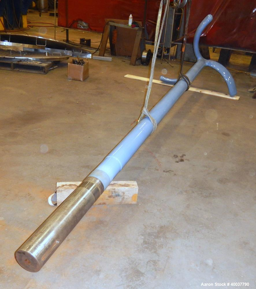 Used- 500 Gallon DTW Glass Lined 3-Blade Retreat Curve Agitator