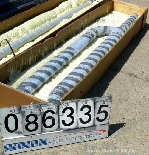 """Unused-REGLASSED/UNUSED: Nucerite H-style baffle. 4-1/2"""" diameter x 116"""" overall length. For a 2000 gallon vessel."""