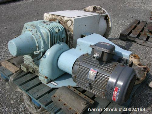 Used- Pfaudler Agitator, Size 8RW. Ratio 15 to 1. Driven by a 25/12.5 hp, 460 volt, 1740/875 rpm XP motor. Includes a mechan...
