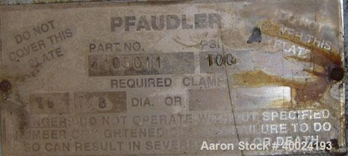 "Unused- Pfaudler 30"" Glass Lined Cover. 14"" X 18"" manway opening. Rated 100 psi."