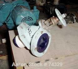 "USED: Pfaudler glass lined flush bottom valve, 3"" x 2"", valve ID 504321."