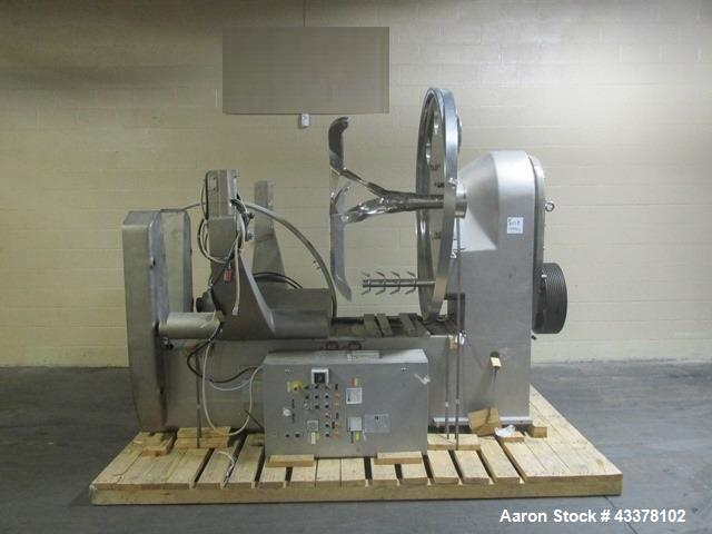 Used- Collette High Shear Mixer, Model Gral 1200. 1200 Liter non-jacketed bowl, 75 hp, 1775 rpm, 230/460 volt main drive, 20...