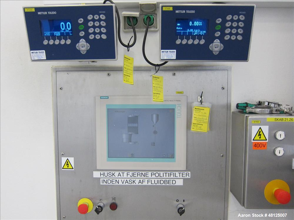 Used- GEA Niro Pharma Systems Aeromatic Fielder mixing/drying system consisting of: (1) GEA Niro Aeromatic Fielder high shea...