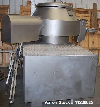 Used- Fielder Vertical Mixer/ Granulator for Dry Product. Model PMA 600/2 G. Stainless steel. Capacity 140 gallons (530 lite...