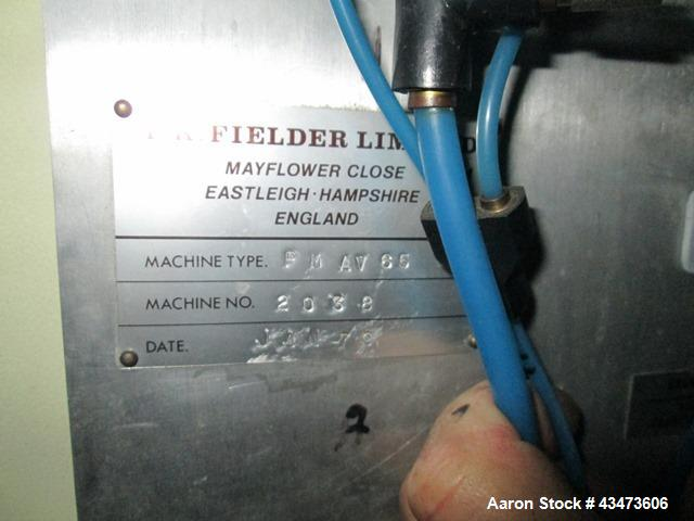Used- T.K. Fielder High Shear Mixer, Model PMAV-65. Stainless steel construction, with high speed chopper, side discharge wi...