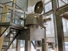 Used- TK Fielder high shear mixer, Polished stainless steel construction, Total capacity 14 cu ft (400 liter), working capac...