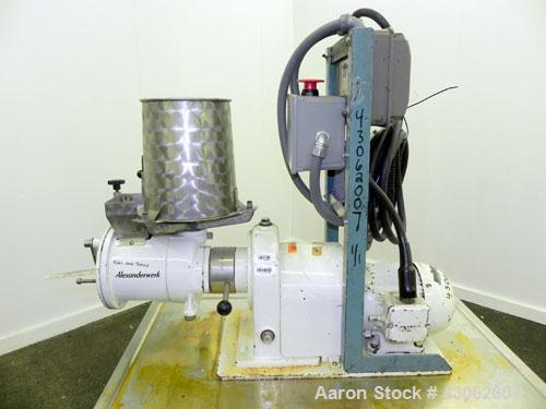 Used- Stainless Steel Alexanderwerk Moist Granulation Machine, Model GA 65/SKM