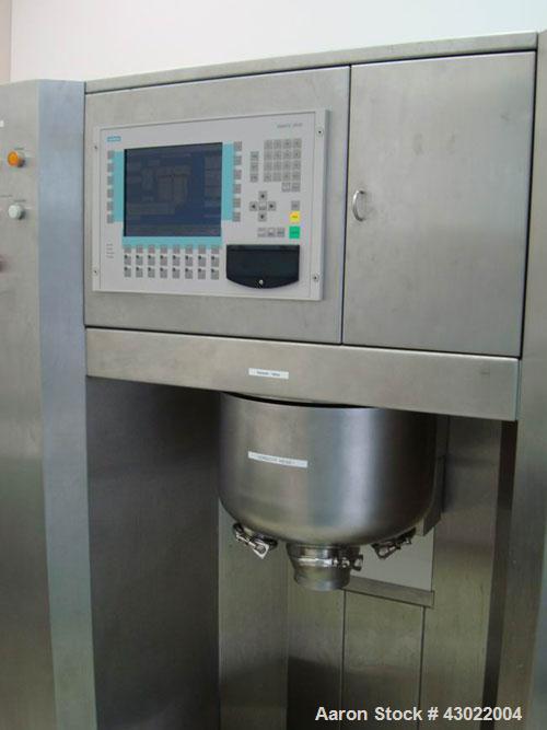 Used-Bohle VMA 20V Single Pot High Shear Granulator