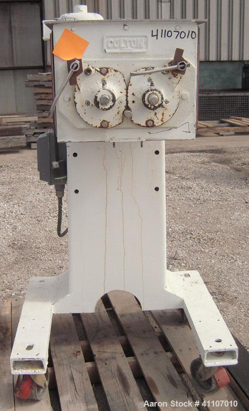 "Used- Colton Twin Rotary Oscillating Granulator, model 544A, 304 stainless steel. (2) 4"" diameter 6 blade rotors. Top feed, ..."