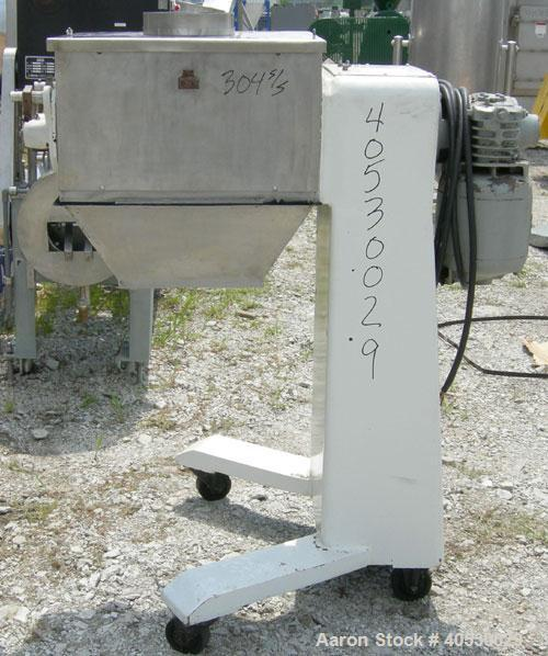 "Used- Colton Twin Shaft Oscillating Granulator, 304 stainless steel. (2) 5"" diameter x 19"" long 6 blade rotors. Top cover wi..."